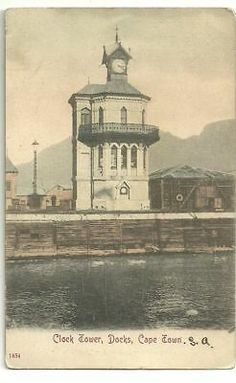 South Africa Old Postcard Clock Tower Docks Cape Town   eBay