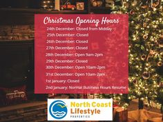 Please take a note of our Christmas trading hours 🎄🎅 Brunswick Heads, 29 December, North Coast, Real Estate, Note, Christmas, Xmas, Real Estates, Navidad