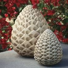 how to make concret pine cones - Google-søk