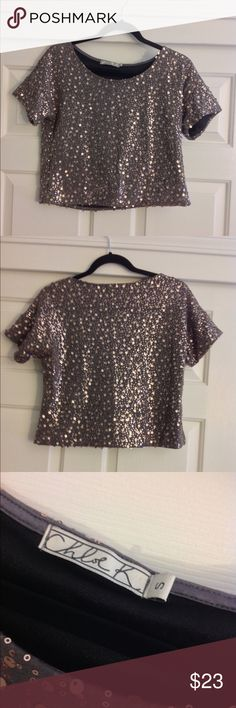 Shimmering Blouse Super cute and stylish. Fun to wear on a night out. In great condition. Only worn once. Chloe K Tops Blouses