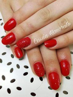 Ladybug red nail art design