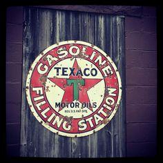 Vintage gas sign.