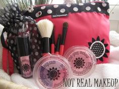 NEW! Mini-Clutch Purse Kit - PINK by Mini-Play Makeup LLC. $19.99. NOTE: THIS MAKEUP IS NOT REAL! 100% FAKE MAKEUP! This is the Perfect Mini-Clutch Purse for Play Makeup Imagination Time! Great for on-the-go pretend makeup play. Zippered pocket, with flower pull tab, perfectly tucks your play makeup away making it easy to take your pretend play makeup anywhere! Mini-Clutch Purse Kit Includes: 1 Pink Mini-Clutch Purse 1 Four-Piece Brush Set with Draw-String Tote 1...