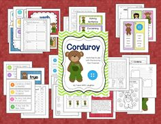 Corduroy literacy unit. You'll also find a subtraction freebie.
