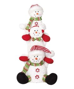 Look what I found on #zulily! 23'' Snowman Trio Statue #zulilyfinds