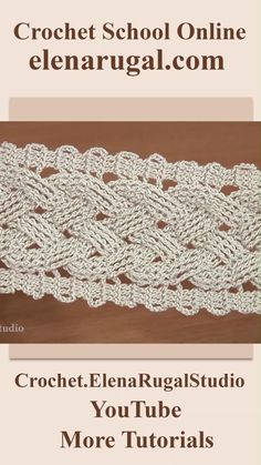 Crochet Cable, Crochet Lace Edging, Crochet Square Patterns, Crochet Diagram, Crochet Stitches Patterns, Crochet Designs, Knitting Patterns, Crochet Boarders, Knitting Looms