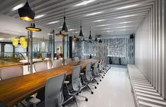 Amazing Contemporary Interior Meeting Room Design with Beautiful Office Space Design, Office Interior Design, Office Interiors, Workplace Design, Commercial Interior Design, Commercial Interiors, Beautiful Interior Design, Contemporary Interior, Jakarta