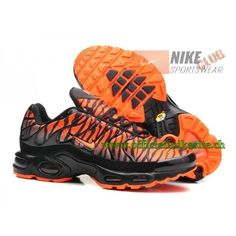 Nike Air Max Plus/Tn Requin 2015 Chaussures de Basketball Pour Homme Orange/ Noir