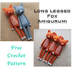 Long Legged Amigurumi Fox Crochet Pattern