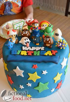Check Out The Super Mario Galaxy Cake I Made For My Sons Birthday