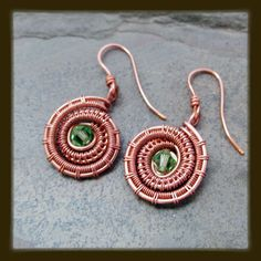 Ammonite Inspired Earrings | JewelryLessons.com