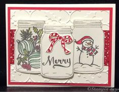 Stampin days: Jar of Cheer, Christmas card, Stampin UP!