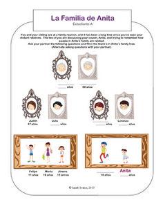 La Familia - Family Tree Communicative Activity for Spanish classes.  $