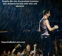 Dave Gahan, of Depeche Mode, loving his fans.  Part 2 of my tribute to Dave