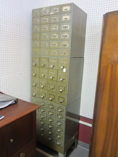 Vintage Safety Deposit Boxes.  3 section stackable!