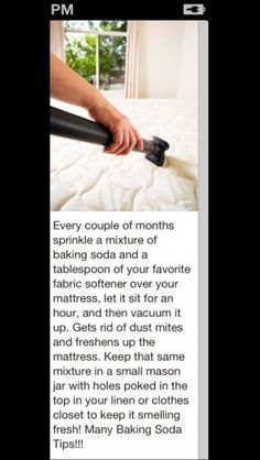 5 Ways to Healthy Living at Home Clean your mattress and get rid of dust mites