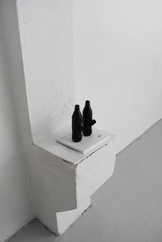 Johan Øvergård Peace Pipes Coke bottles, pipes and paint, 22 x 6 x 10 cm each, 2014