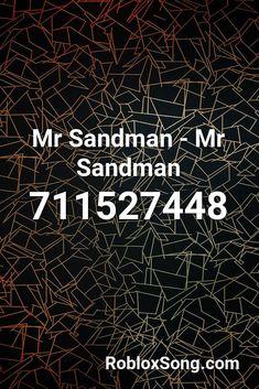 mr sandman roblox id