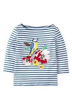 Mini Boden 'Big Bloom' Appliqué Tee (Toddler Girls, Little Girls & Big Girls) available at #Nordstrom