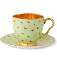 WEDGWOOD - Harlequin Collection Polka Dot teacup and saucer | Selfridges.com