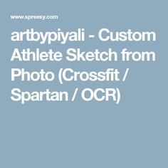 artbypiyali - Custom Athlete Sketch from Photo (Crossfit / Spartan / OCR)