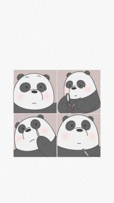 Wallpaper, Feeds & Lockscreen - ──ꪶཷ୭ we bare bears wallpaper Panda Wallpaper Iphone, Cute Panda Wallpaper, Bear Wallpaper, Cute Disney Wallpaper, Kawaii Wallpaper, Cute Wallpaper Backgrounds, Screen Wallpaper, We Bare Bears Wallpapers, Panda Wallpapers