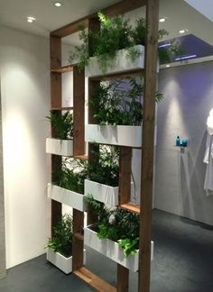 Vertical gardens 577797827179640758 - 56 DIY Vertical Garden Design Ideas For Your Home Jardin Vertical Diy, Vertical Garden Design, Vertical Gardens, Vertical Bar, Living Room Partition Design, Room Partition Designs, Wood Partition, Partition Ideas, Partition Screen