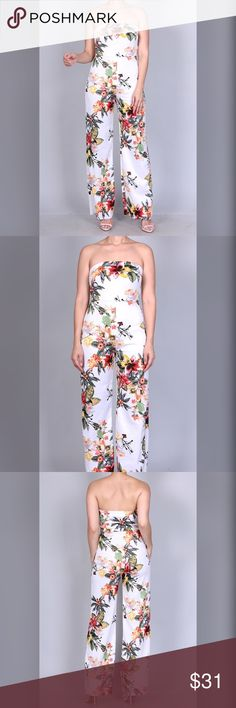 Floral Jumpsuit Floral Jumpsuit Pants Jumpsuits & Rompers