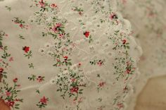 4 yards Cotton Embroidery Lace Trim by lacetime on Etsy