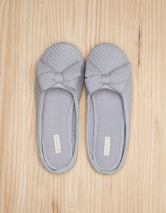 Natural mule slippers