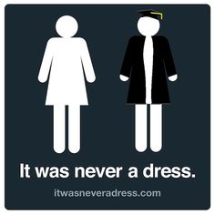Did it ever occur to you that the bathroom sign figure for ladies might not be wearing a dress, but something else instead? Programmer and...