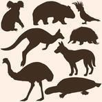 Find silhouette Australian animals stock images in HD and millions of other royalty-free stock photos, illustrations and vectors in the Shutterstock collection. Animal Silhouette, Silhouette Vector, Silhouette Cameo, Australian Christmas, Aussie Christmas, Australia Tattoo, Outline, Animal Templates, Rena