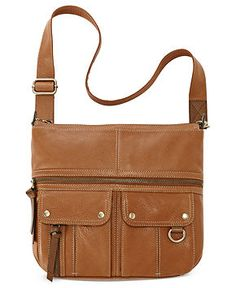Fossil Handbags, Morgan Leather Top Zip Crossbody - Handbags & Accessories - Macy's