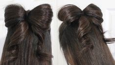 YES! (Another bow that i want to try, but no one in my family has long enough hair!) Hair Bow Tutorial Hairstyle Half-Updo for Medium Long Hair