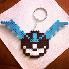 Team Mystic pokeball keychain - Pokemon perler beads by Hama Beads, Pokemon Perler Beads, Perler Bead Art, Fuse Beads, Bead Crafts, Arts And Crafts, Cross Stitch Boards, Bead Kits, Perler Patterns