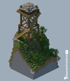 Firewatch Ranger Tower – gotta keep my park safe! We needed some rangers to keep watch over our park. So I built a watch tower partially inspired by the game, Firewatch. Minecraft Kingdom, Minecraft Castle, Minecraft Medieval, Minecraft Plans, Minecraft Houses Blueprints, Minecraft Survival, Minecraft Tutorial, Minecraft Crafts, Minecraft Images