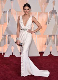 Oscar night wardrobe changes Jenna Dewan Tatum Dress 1 - Beautiful