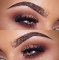 Brown eye makeup  Halo style