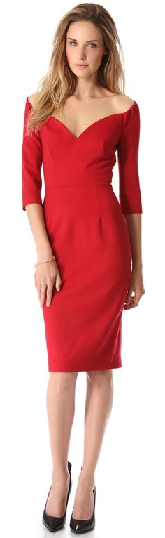DSQUARED2 Off the Shoulder Dress - the sexy chic lady in red #thejewelryhut