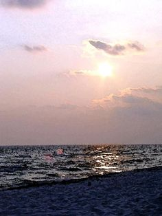 Photo I took at Panama City Beach at sunset.  Before the oil spill.