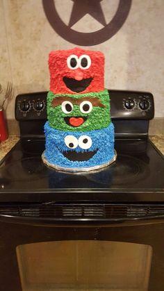 Elm, Oscar & Cookie Monster Cake