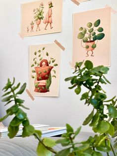 Tribute to lazy days - plant lover illustration / plant print / botanical wall decor / house plant print / pothos illustration Plant Art, Fluffy Pillows, Comfy Bed, Plant Illustration, Soft Blankets, Lazy Days, Begonia, Botanical Prints, Beautiful Artwork