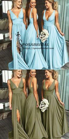 70300d350e3 2019 A-line Cheap Sexy V Neck Colorful Long Modest Elegant Bridesmaid  Dresses