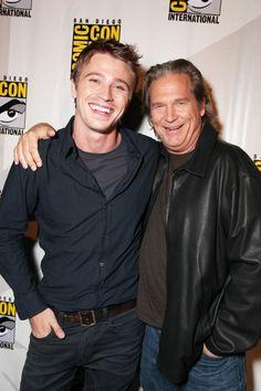 Jeff Bridges and Garrett Hedlund at event of TRON