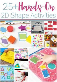 Awesome Hands-on 2D Shape Activities 2d Shapes Activities, Math Activities For Kids, Learning Shapes, Math For Kids, Preschool Learning, Fun Math, Sensory Activities, Preschool Shapes, Kindergarten Math