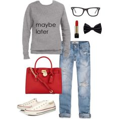 """maybe later"" by mindymaesmarket on Polyvore"