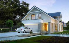 Z Charakterem 3 - wizualizacja pattern 30x40 House Plans, House Front Design, Cottage Plan, Facade House, Home Fashion, New Homes, 1, Construction, Mansions