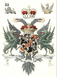 Duke of Marlborough's Coat Of Arms combines elements of both the Churchill and Spencer arms.