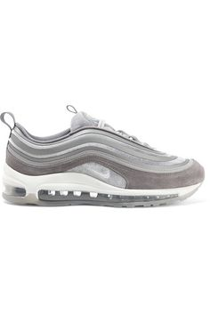 new product 55ff3 b0121 Nike - Air Max 97 Velvet, Nubuck And Rubber Sneakers - Gray Jeans Och  Sneakers