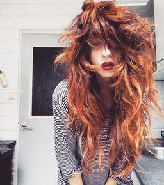 Medium Shag Haircuts, Curly Hair Styles, Natural Hair Styles, Mode Hippie, Long Wavy Hair, Dream Hair, Hair Today, Hair Dos, Pretty Hairstyles